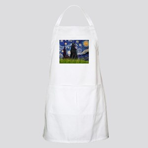 Starry Night /Belgian Sheepdog Apron