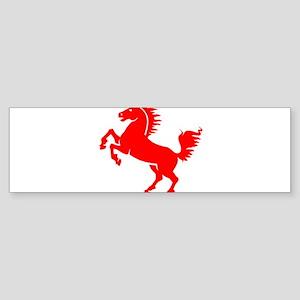 Red Stallion Horse Bumper Sticker