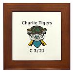 Charlie Tigers Framed Tile