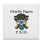 Charlie Tigers Tile Coaster
