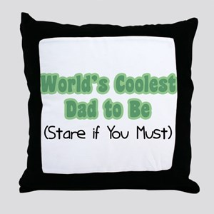 World's Coolest Dad to Be Throw Pillow