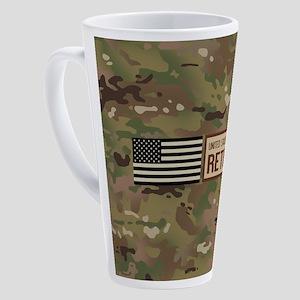 U.S. Air Force: Retired (Camo) 17 oz Latte Mug