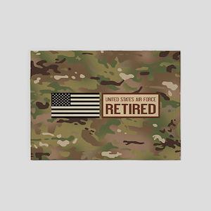 U.S. Air Force: Retired (Camo) 5'x7'Area Rug