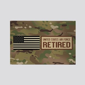 U.S. Air Force: Retired (Camo) Rectangle Magnet
