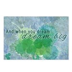 Dream Big Watercolor Typography Postcards (Package