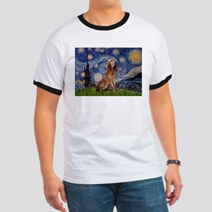 Starry Night Bloodhound Ringer T