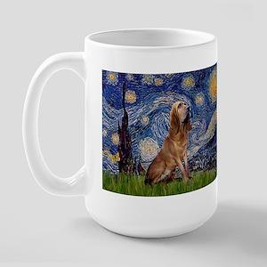 Starry Night Bloodhound Large Mug