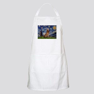 Starry Night Bloodhound BBQ Apron