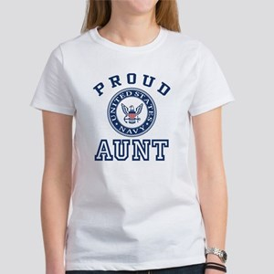 Proud US Navy Aunt Women's Classic White T-Shirt