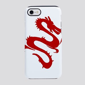 Red Asian Serpent Dragon iPhone 8/7 Tough Case