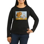 Sunflowers & Bolognese Women's Long Sleeve Dark T-