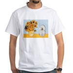 Sunflowers & Bolognese White T-Shirt
