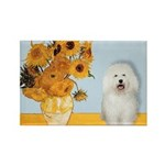 Sunflowers & Bolognese Rectangle Magnet (10 pack)