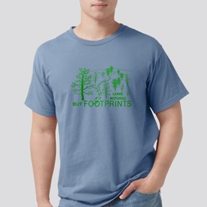 Leave Nothing but Footprints Green T-Shirt