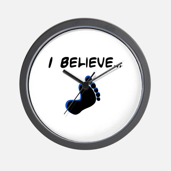 I believe in bigfoot Wall Clock