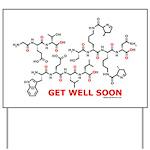 Get Well Soon molecule greeti Yard Sign