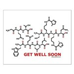 Get Well Soon molecule greeti Small Poster