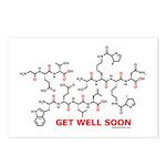 Get Well Soon molecule greeti Postcards (Package o