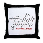Get Well Soon molecule greeti Throw Pillow