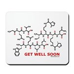 Get Well Soon molecule greeti Mousepad
