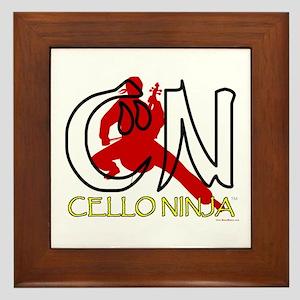 Cello Ninja Framed Tile