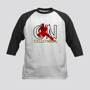 Cello Ninja Kids Baseball Jersey