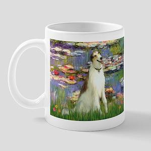Borzoi in Monet's Lilies Mug