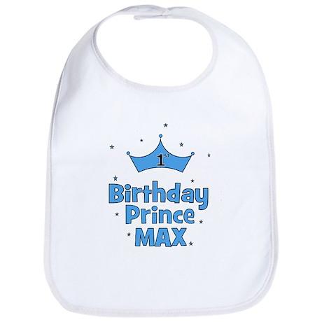Max 1st Birthday Prince! Bib