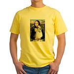 Mona & her Borzoi Yellow T-Shirt
