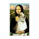 Mona & her Borzoi Sticker (Rectangle)