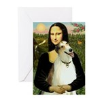 Mona & her Borzoi Greeting Cards (Pk of 10)