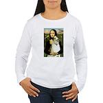 Mona & her Borzoi Women's Long Sleeve T-Shirt