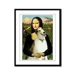 Mona & her Borzoi Framed Panel Print