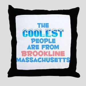 Coolest: Brookline, MA Throw Pillow