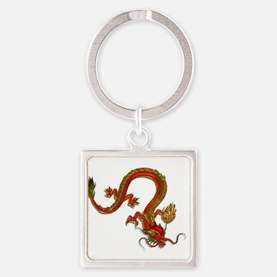 Metallic Orange Serpent Dragon Keychains