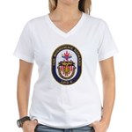 USS BON HOMME RICHARD Women's V-Neck T-Shirt