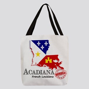 Acadiana French Louisiana Cajun Polyester Tote Bag