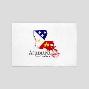 Acadiana French Louisiana Cajun 4' x 6' Rug