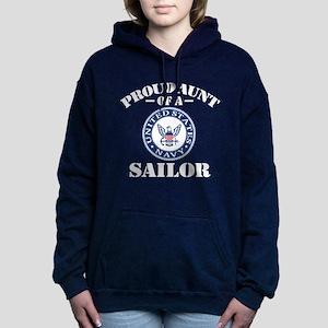 Proud Aunt Of A US Navy Women's Hooded Sweatshirt