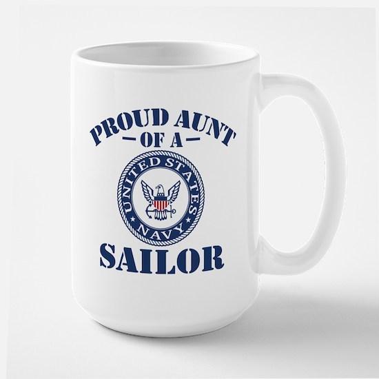 Proud Aunt Of A US Navy Sailor Large Mug
