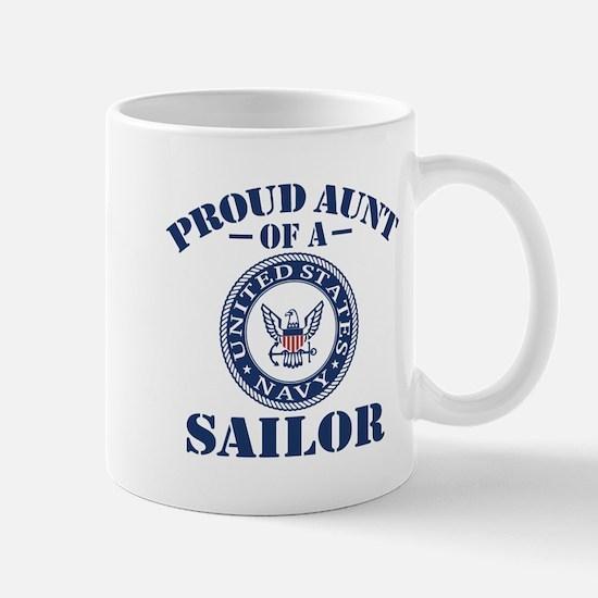 Proud Aunt Of A US Navy Sailor Mug