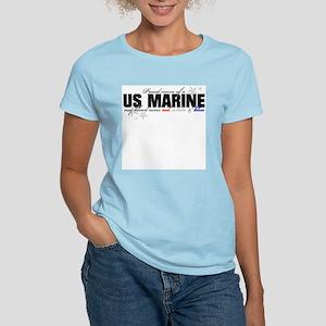 Red, white & blue USMC mom Women's Light T-Shirt