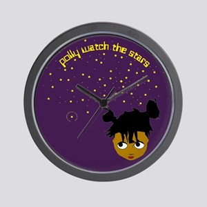 polly watch the stars wall clock