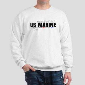 Red, white & blue USMC Dad Sweatshirt