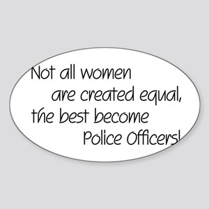 Best Police Officers Oval Sticker