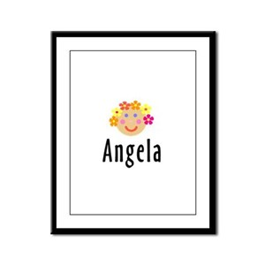 Angela - Flower Girl Head Framed Panel Print