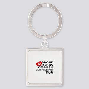 Proud Daddy Of English Springer Sp Square Keychain
