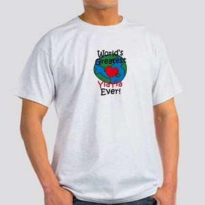 World's Greatest YiaYia Light T-Shirt