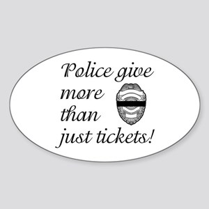 Police Give More Oval Sticker