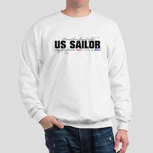 Red, white & blue USN Best Fr Sweatshirt